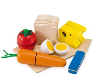 jouet aliments à découper en bois