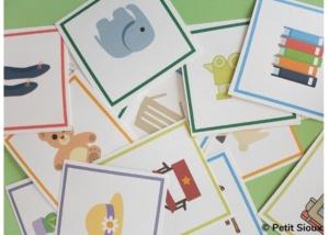 activité enfant 3 4 ans cartes indices