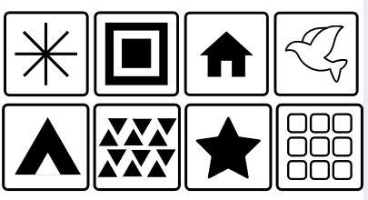 images contrastée noir et blanc bébé x8