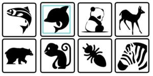images montessori contrastée noir et blanc animaux
