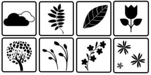 images montessori contrastée noir et blanc nature