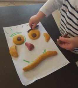 pâte à modeler faire un visage avec modèle fait