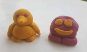 personnages simples en pâte à modeler