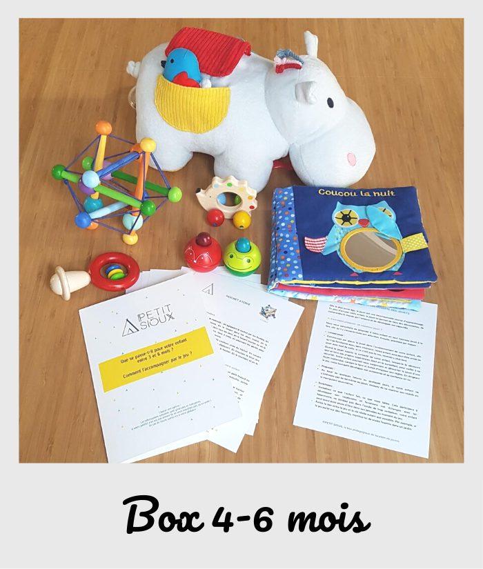 box fiches et jouets 4-6 mois