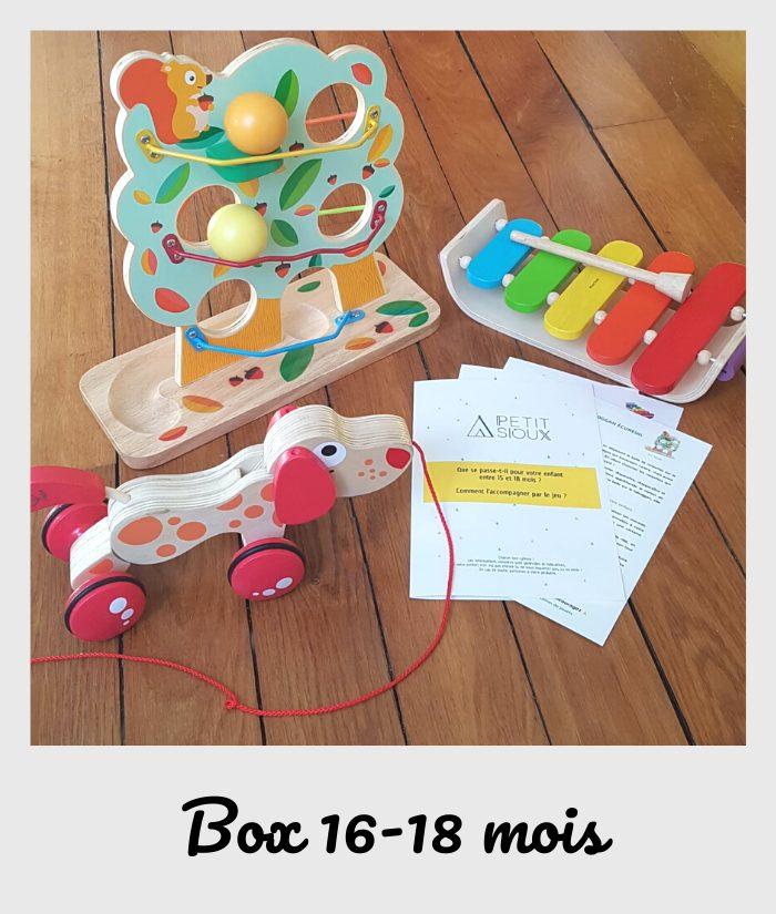 box fiches et jouets 16 mois