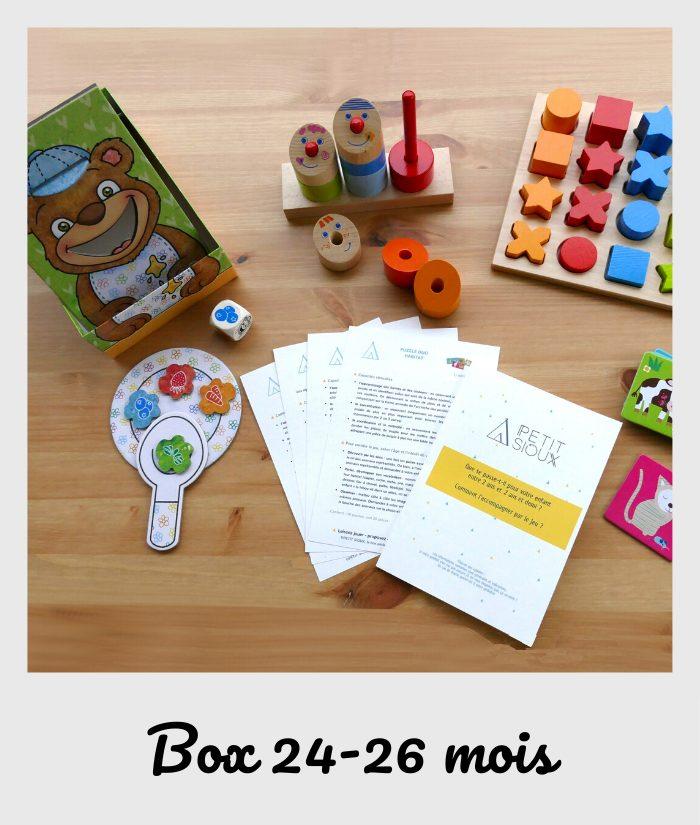 box fiches et jouets 24 mois