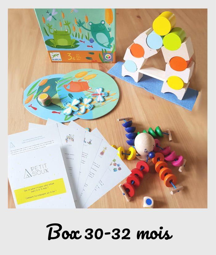 box fiches et jouets 30 mois